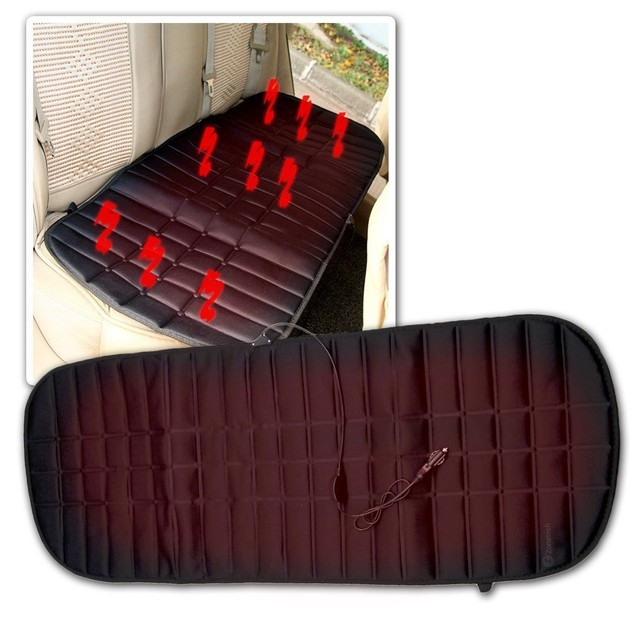 Zone Tech Car Heated Cushion Warmer Cover Hot Winter Heating Pad Rear Seat