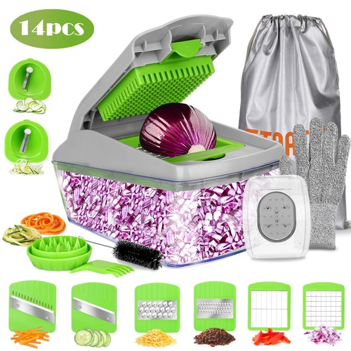 VEGETABLE SPIRALIZER MANDOLINE SLICER DICER FOOD CHOPPER CUTTER