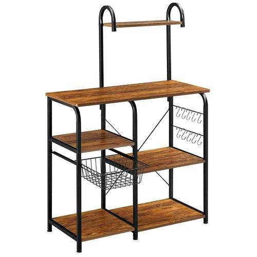 Kitchen Baker's Rack Utility Storage Shelf Microwave Stand Organizer W