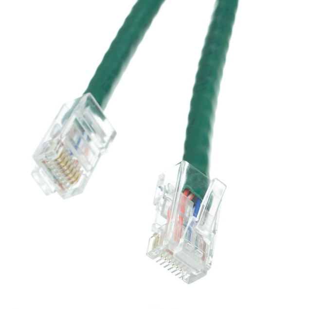 Cat5e Gray Ethernet Patch Cable, Bootless, 50 foot