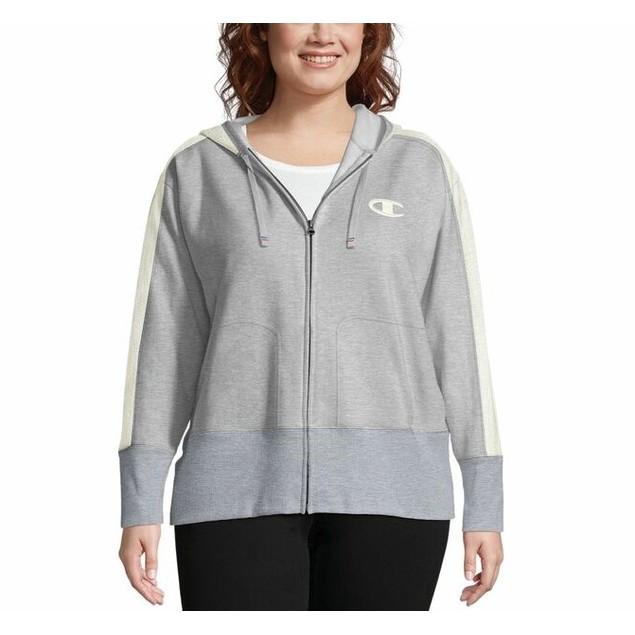 Champion Women's Heritage Herringbone Zip Hoodie Gray Size Medium
