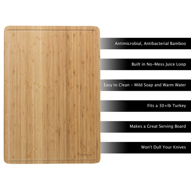 Extra Large Bamboo Cutting Board 20 x 14 x .75