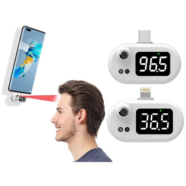 Infrared Thermometer for Apple Lightning or Android USB-C
