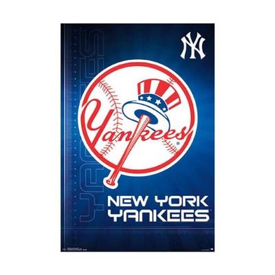 New York Yankees Logo Poster 24 x 36 NYY NY MLB Baseball Hat Bat