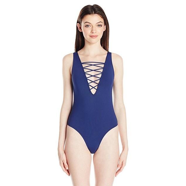 Rip Curl Women's Designer Surf One Piece Swimsuit, Navy, XL