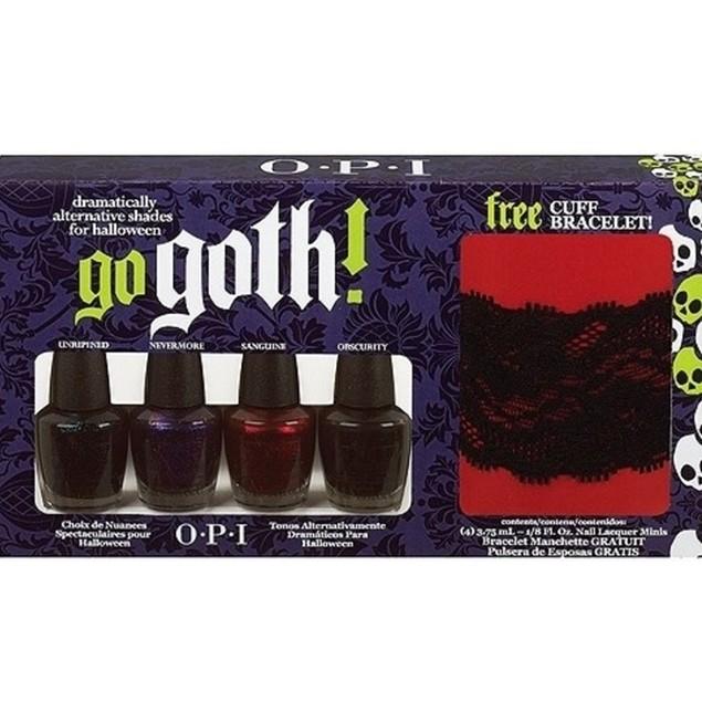 Opi Go Goth! Mini Opi Halloween Polish Set + Free Cuff Bracelet