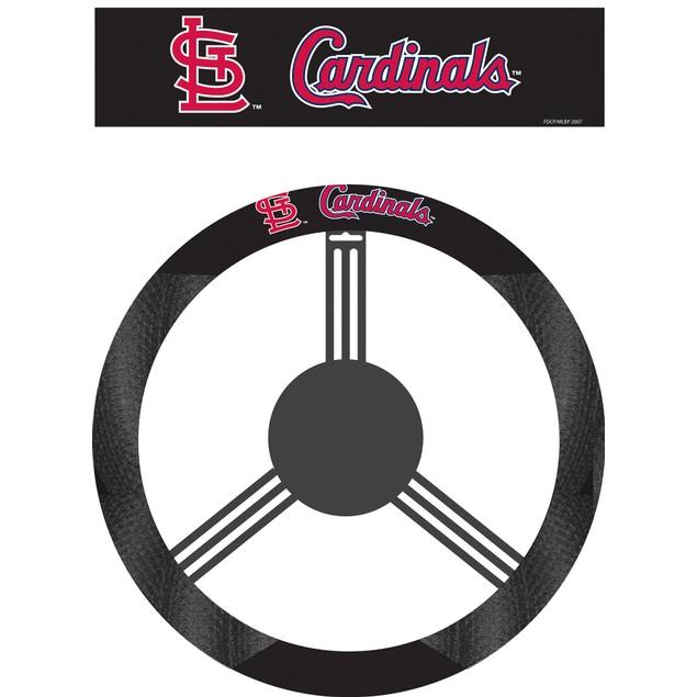 St. Louis Cardinals Steering Wheel Cover MLB Baseball Team Logo Poly Mesh