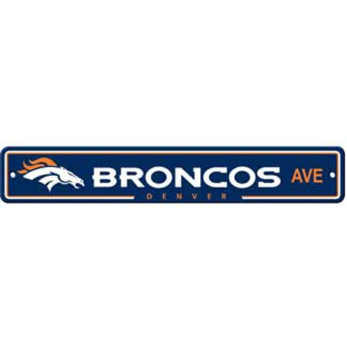 "Denver Broncos Ave Street Sign 4""x24"""