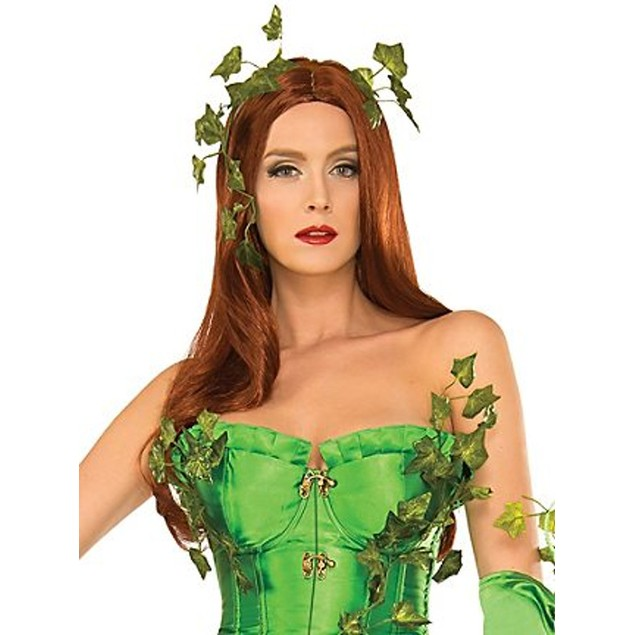 Deluxe Washable Poison Ivy Wig Red Auburn Batman Villain Mother Nature Hair