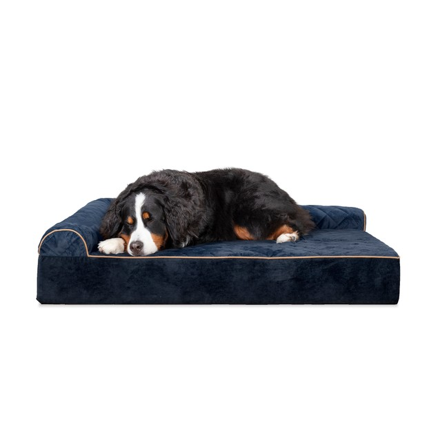 FurHaven Deluxe Orthopedic Goliath Quilted LChaise Couch Pet Bed