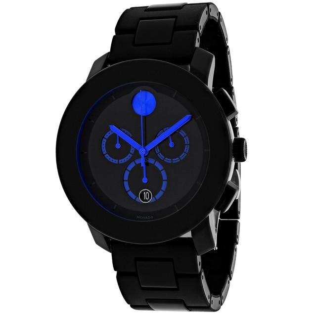 Movado Men's Bold Black Dial Watch - 3600101