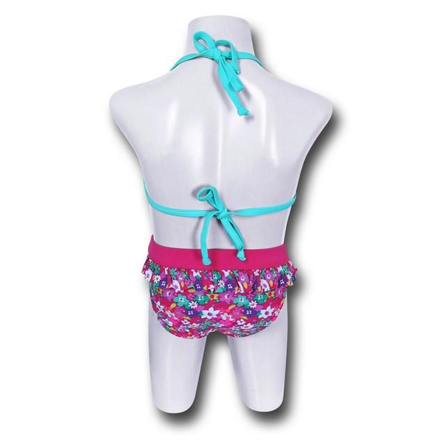 Batgirl Bloom Triangle Kids Bikini
