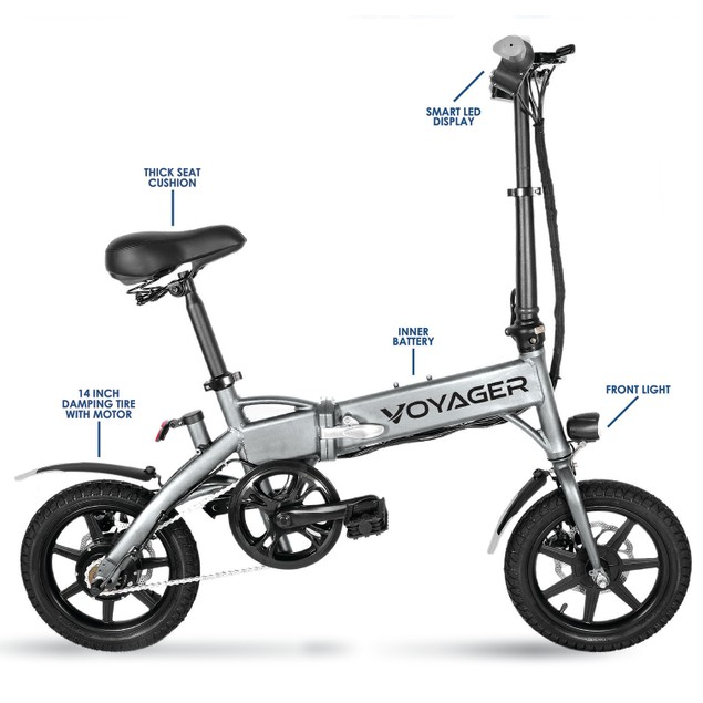 Voyager Flybrid Compact Rechargeable Three-Way Folding Electric Bicycle