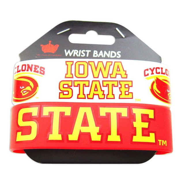 Iowa State Cyclones Rubber Wrist Band (Set of 2) NCAA