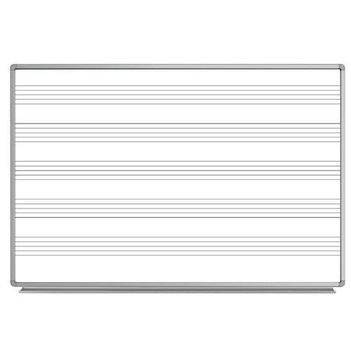"Luxor 72"" x 48"" Wall - Mounted Music Whiteboard"