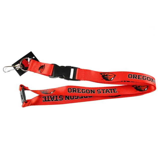 Oregon State Clip Lanyard Keychain Id Holder Ticket Orange