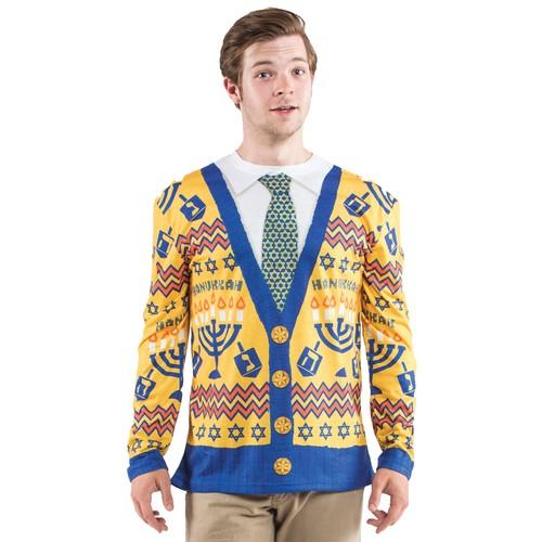 Ugly Chanukah Sweater Chanukah Menorah Holiday Outrageous Tacky Hanukkah