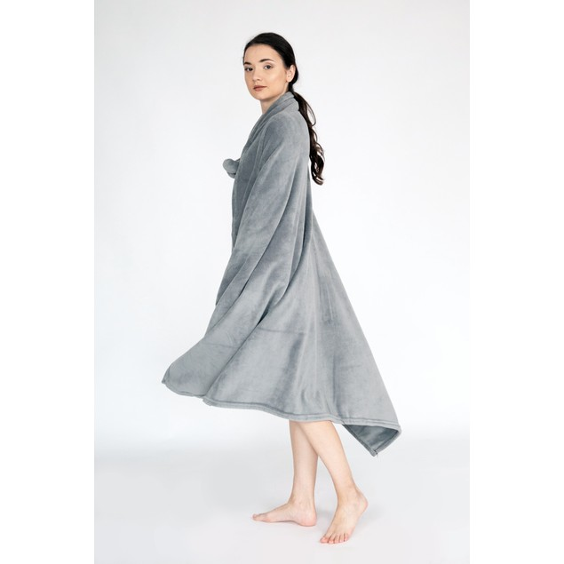 Wrap Snuggle Robe Cozy Ultra Plush Faux Fur Fleece Wearable Blanket
