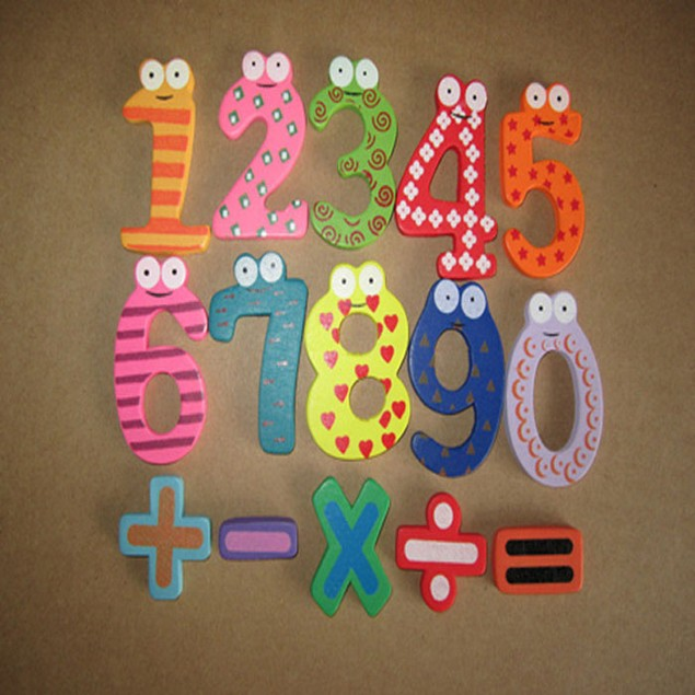 Kid's Magnetic Wooden Numbers Set