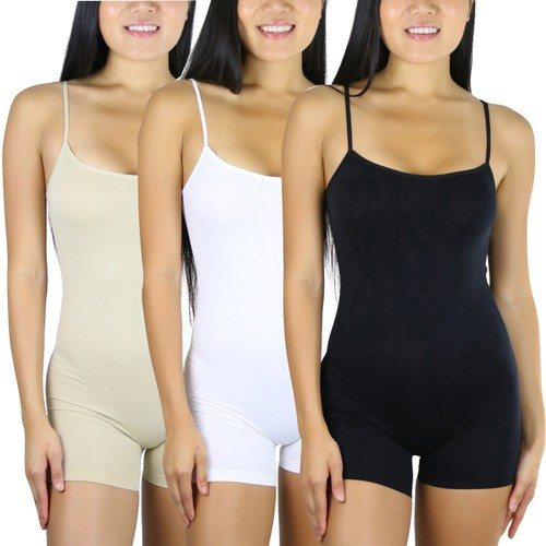 (3-Pack) ToBeInStyle Essential Seamless Bodysuit Shorts