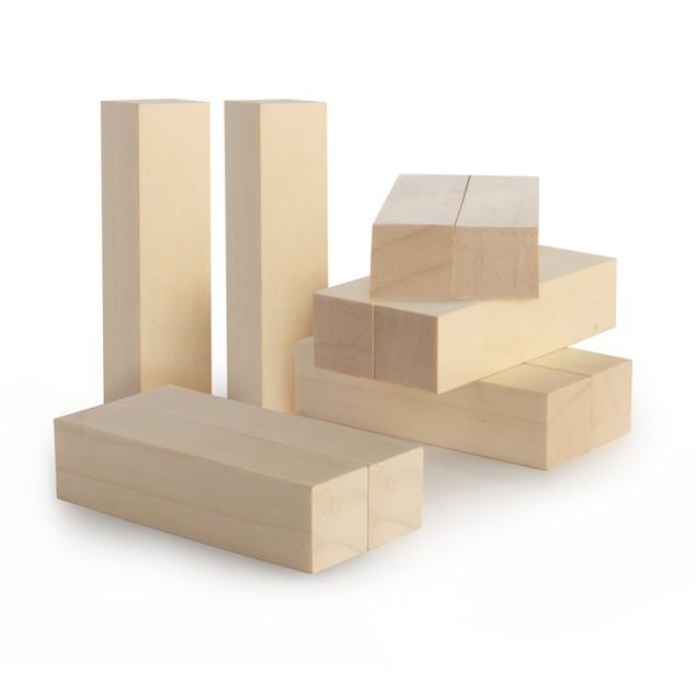 Basswood Carving Blocks - Set of 10 | Pukkr