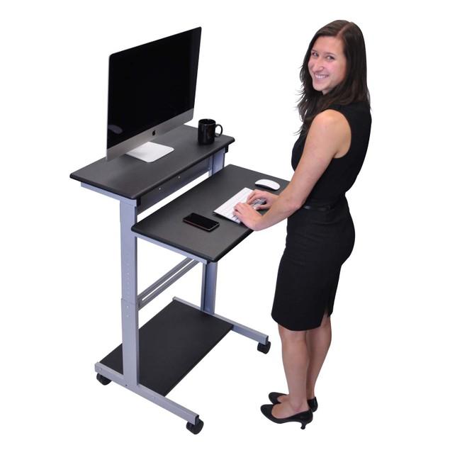 """Luxor 31.5"""" Adjustable Stand Up Workstation - Black"""