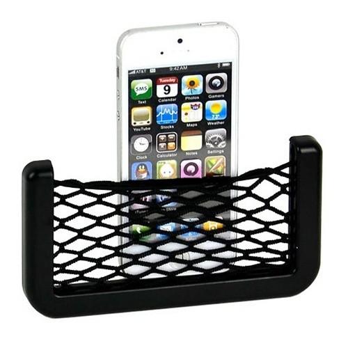 2-Pack Universal Car Seat Side Back Storage Net Bag Phone Holder Pocket Organizer Black