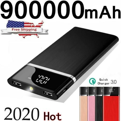 Portable External Battery Huge Capacity Power Bank 900000mAh Charger