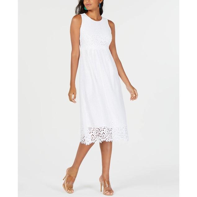 Alfani Women's Petite Lace Midi Dress White Size 0