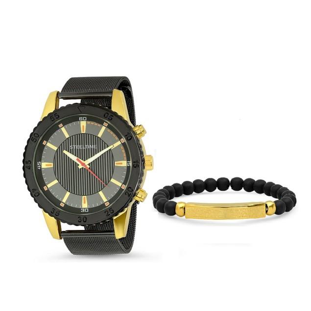 Bracelet & Watch Set W/ Our Father Id Bracelet