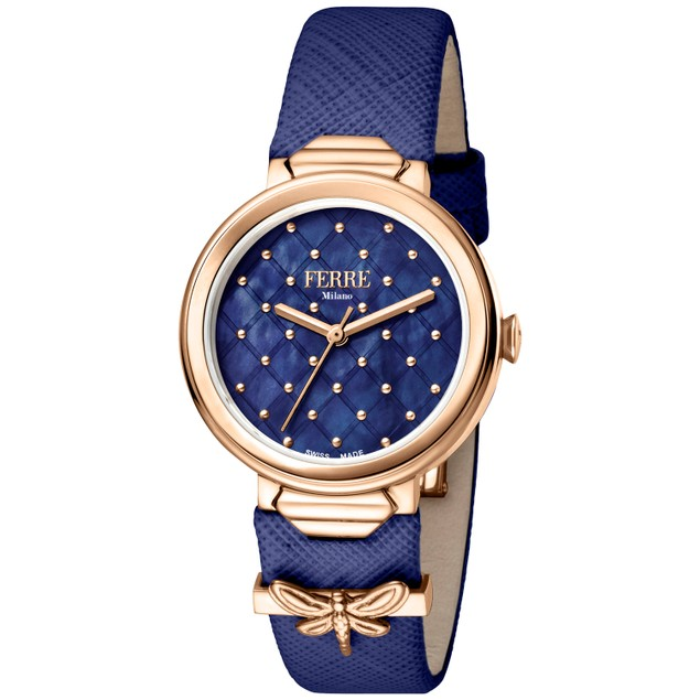 Ferre Milano Women's Classic Blue Dial Watch - FM1L124L0041