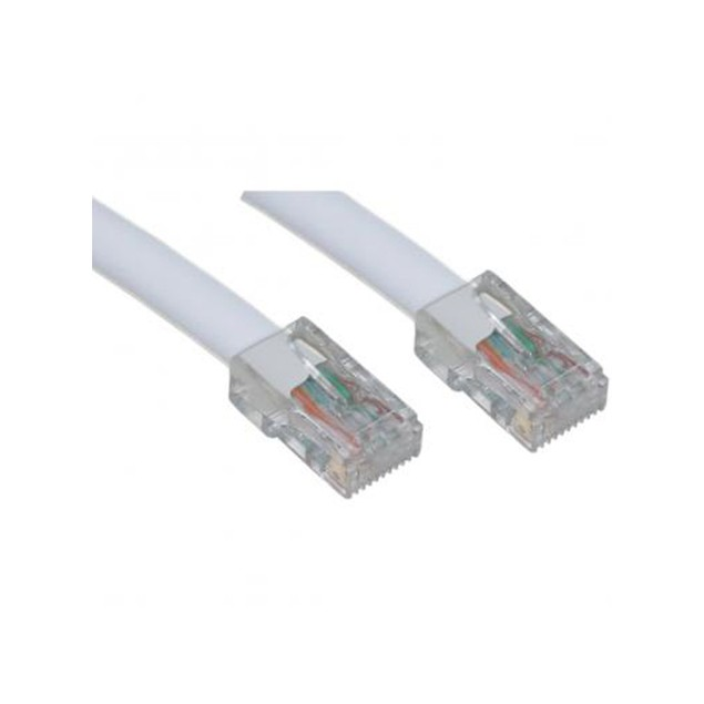 Cat5e White Ethernet Patch Cable  Bootless  3 foot