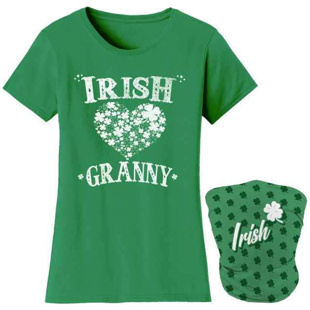 Women's Luck of the Irish Mom St. Patrick's Day T-Shirts with Gaiter