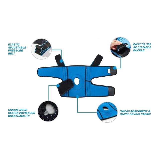 Adjustable Knee Brace with Side Stabilizers & Patella Gel Pad (1 Knee Brace)