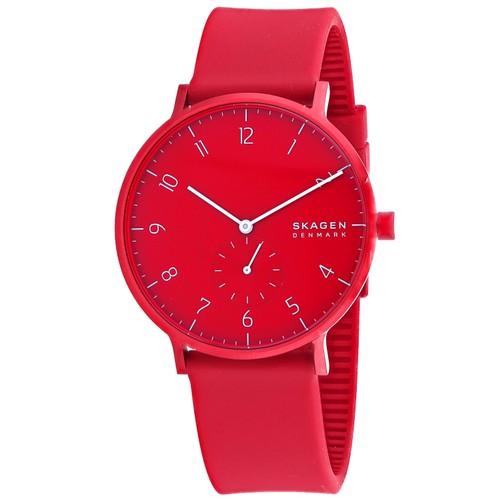 Skagen Men's Aaren Kulor Red Dial Watch - SKW6512