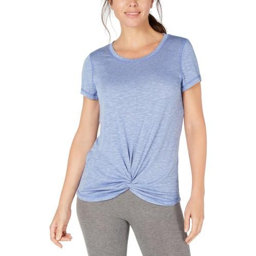 Ideology Women's Knot-Front T-Shirt Blue Size Medium