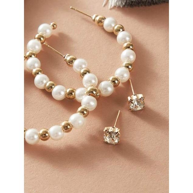 Trendy Gold Earring Set