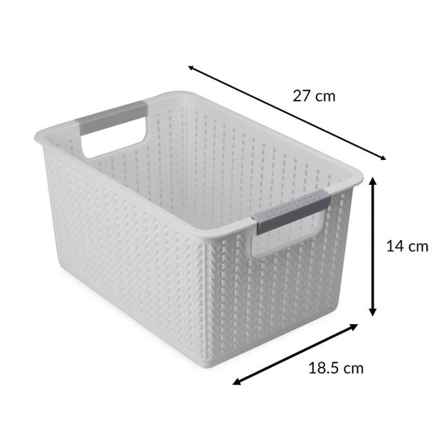 Plastic Storage Boxes - Set of 5 | Pukkr White