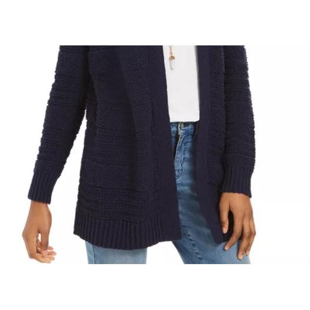 Style & Co Women's Boucle Cardigan Navy Size Medium