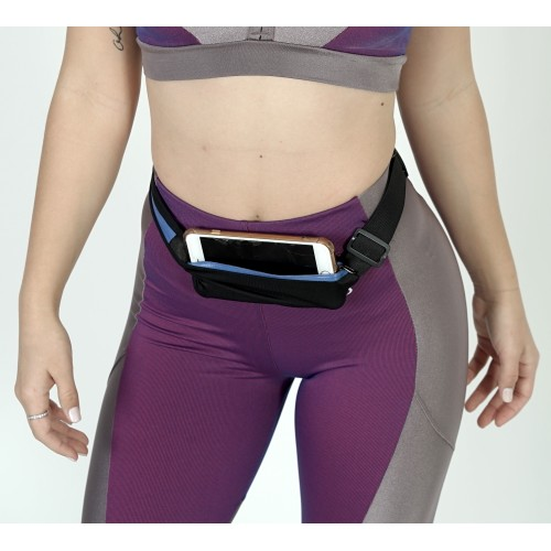 Dual Pocket Running Belt Sports and Travel Fanny Pack for Jogging, Cycling, Outdoors and Travel