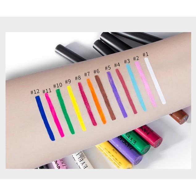 Color Matte Liquid Eyeliner Waterproof And Sweatproof 12 Sets