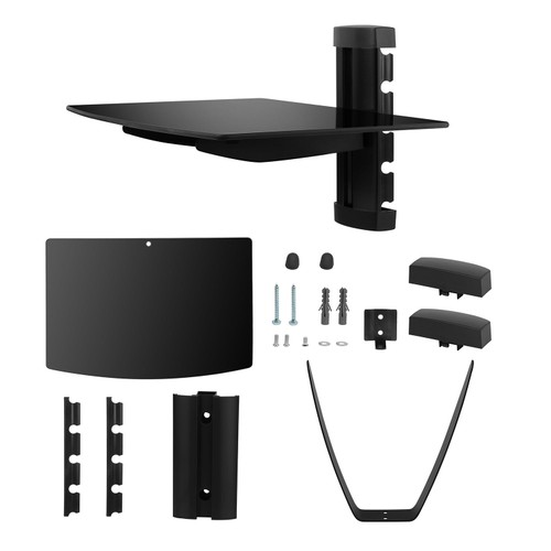 Floating Wall Mounted Strengthened Tempered Glass Shelf