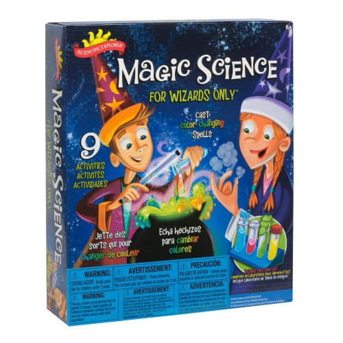 Scientific Explorer Magic Science for Wizards Color Changing Spells Kit,