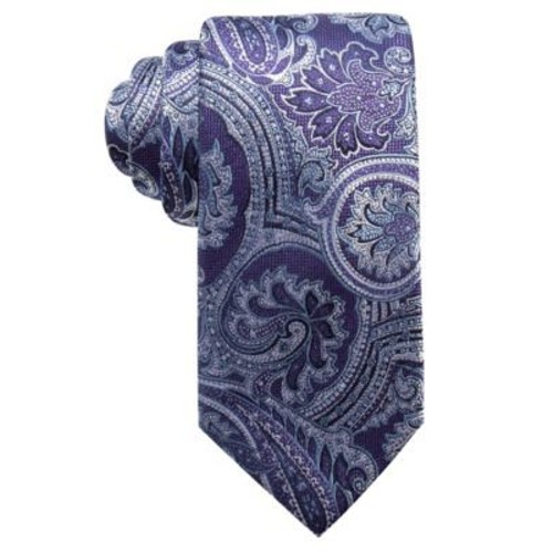 Tasso Elba Men's Classic Paisley Silk Tie Purple Size Regular