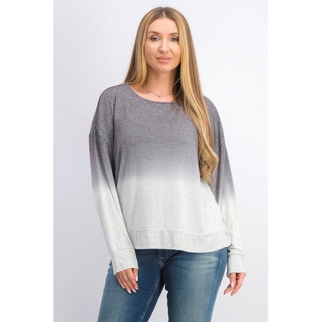 Bar III Women's Dip-Dyed Sweater Gray Size Medium