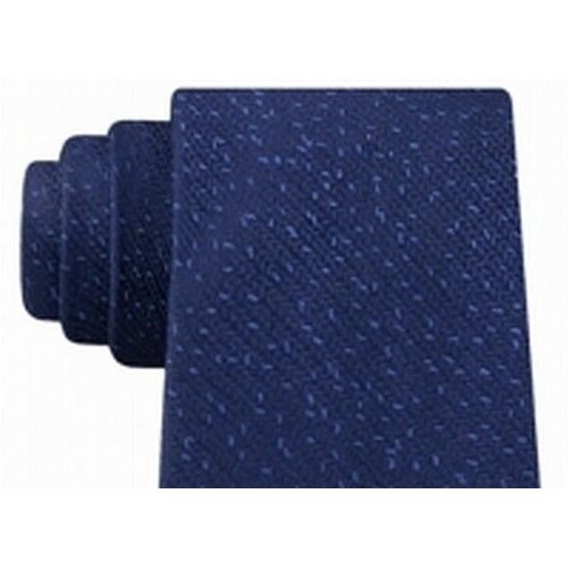 Calvin Klein Men's Slim Knit Silk Tie Blue Size Regular