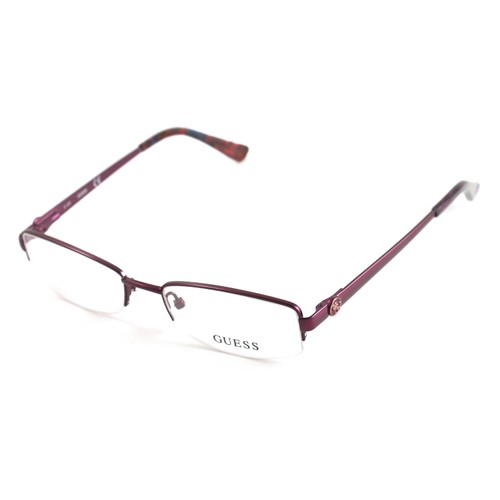 Guess Women  GU 2525 082 Purple 50 17 135 Semi Rimless Oval