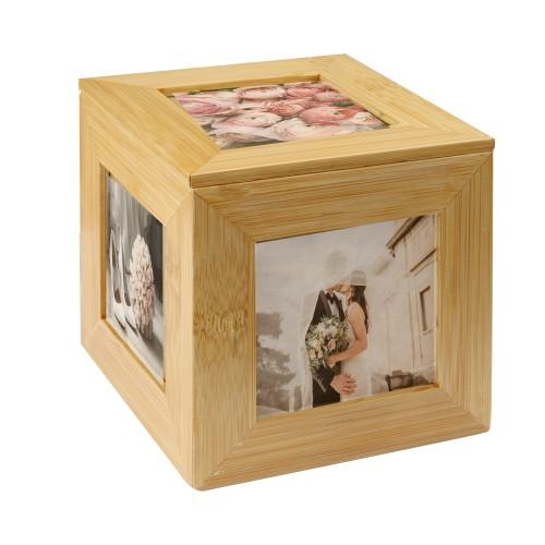 Bamboo Photo Cube | MandW