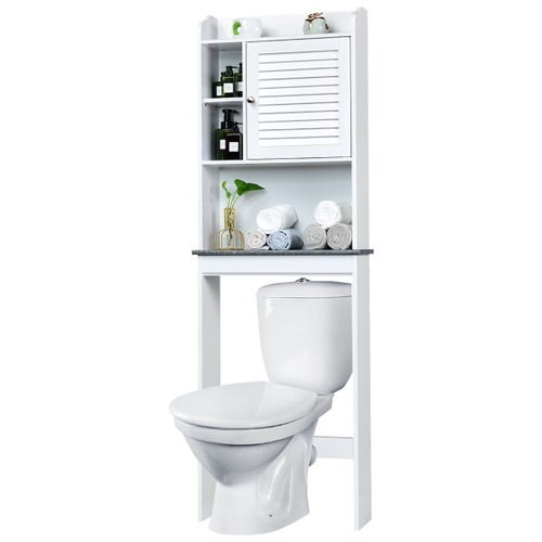 Costway Over The Toilet Space Saver Toilet Rack Bathroom Cabinet Organizer