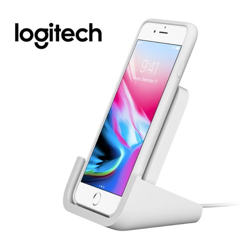 Logitech Powered Wireless Charging Stand for iPhone 8, 8 Plus, X XS XS Max, XR iPhone 11, iPhone 12
